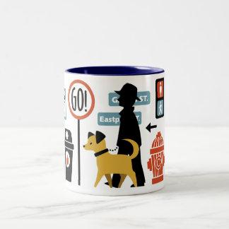 Walk the Dog Two-Tone Coffee Mug