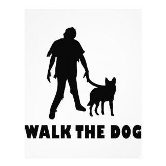 walk the dog zombie customized letterhead