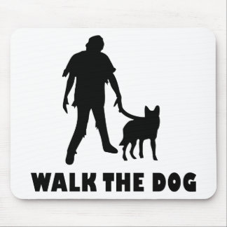 walk the dog zombie mouse pad