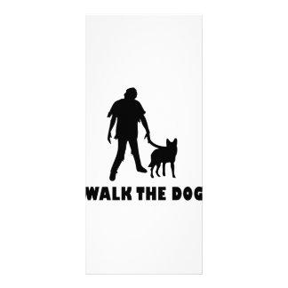 walk the dog zombie personalized rack card