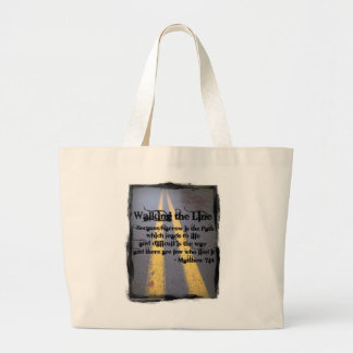 Walk The Line Large Tote Bag