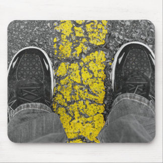Walk The Line Mouse Pad