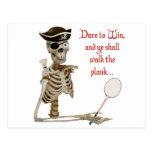 Walk the Plank Badminton Postcard