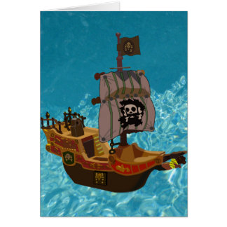 Walk the Plank Greeting Cards