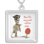 Walk the Plank Ping Pong Square Pendant Necklace