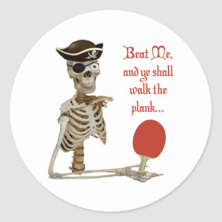 Walk the Plank Ping Pong Round Stickers