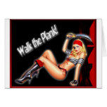 Walk the Plank - Pirate Girl Greeting Cards