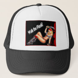Walk the Plank - Pirate Girl Trucker Hat