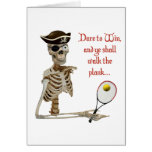 Walk the Plank Pirate Tennis Stationery Note Card