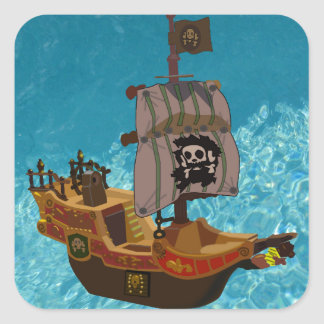 Walk the Plank Square Stickers