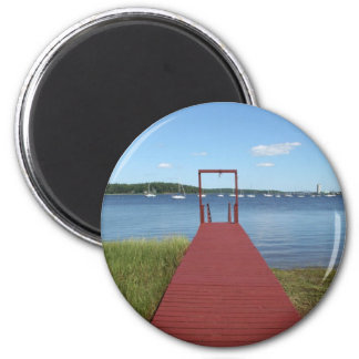 Walk the planks of NH 2 Inch Round Magnet