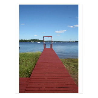 Walk the planks of NH Postcard