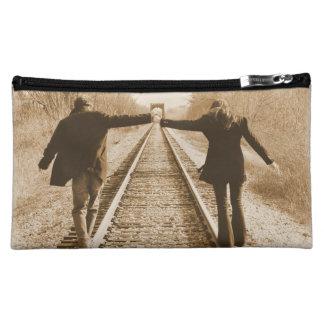 Walk the Rails Together - Hand Bag Cosmetic Bag