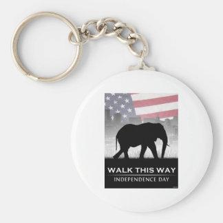 Walk This Way Keychain