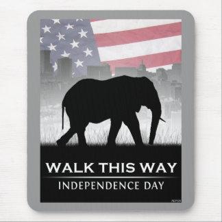 Walk This Way Mouse Pad