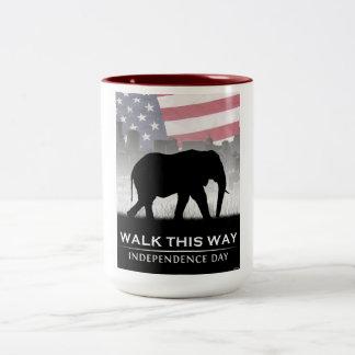Walk This Way Two-Tone Coffee Mug
