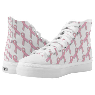 Walk Through Breast Cancer Awareness Month High-Top Sneakers