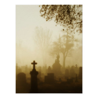 Walk Through The Foggy Graveyard Poster