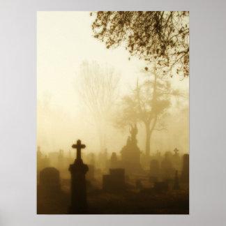 Walk Through The Foggy Graveyard Poster