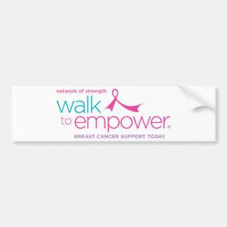 Walk to Empower Bumper Sticker Car Bumper Sticker