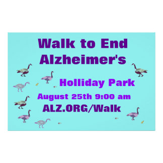 Walk to End Alzheimer s Sign Poster