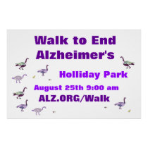 Walk to End Alzheimer's Banner Poster