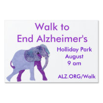 Walk to End Alzheimer's Customizable Yard Sign