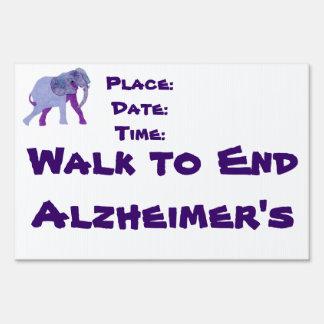 Walk to End Alzheimer's Yard Sign