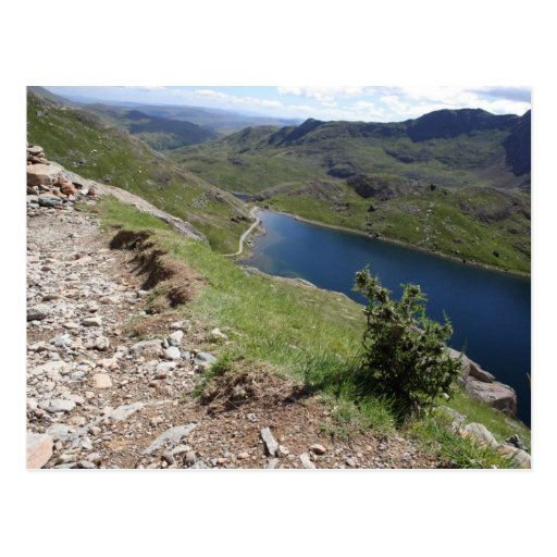 Walk To Snowdon The Highest Mountain In England An Postcard