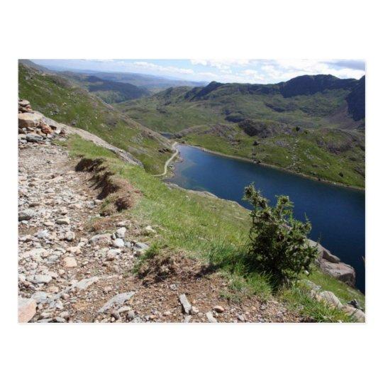 Walk To Snowdon The Highest Mountain In England An Postcard
