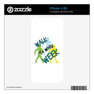 Walk To Work Week Decal For iPhone 4