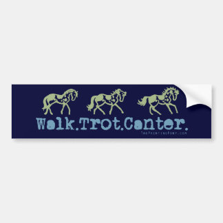 Walk Trot Canter Horses Car Bumper Sticker