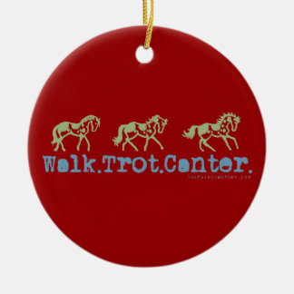 Walk Trot Canter Horses Ceramic Ornament