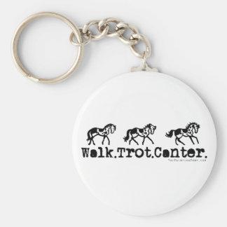 Walk Trot Canter Horses Key Chain