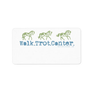 Walk Trot Canter Horses Label