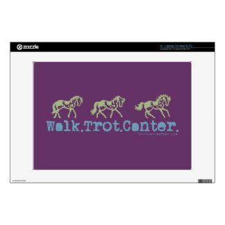 Walk Trot Canter Horses Laptop Skins