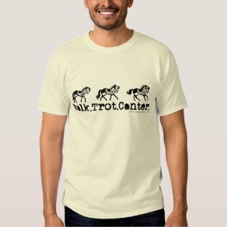 Walk Trot Canter Horses T Shirt