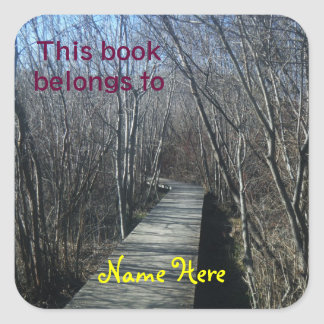 Walk Way This book belongs To, Bookplate Sticker
