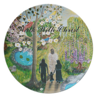 Walk With Christ Plate
