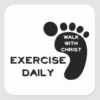 Walk With Christ Square Sticker