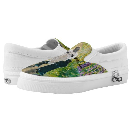 walk with zipz slip on tennis shoes us printed