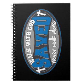 Walk With God(Blue) Spiral Notebook