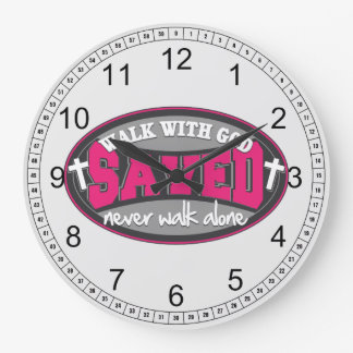 Walk With God(Pink) Large Clock