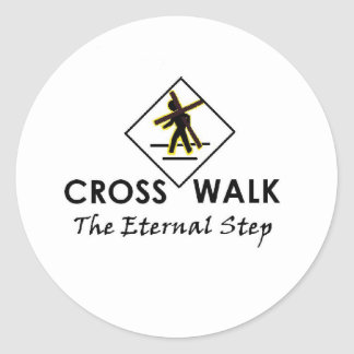 Walk with Jesus - Office and Apparrel items Classic Round Sticker