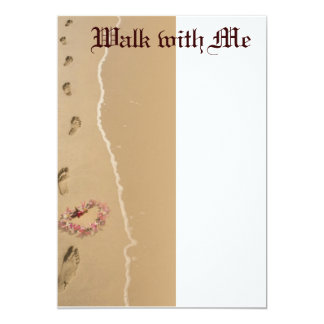Walk with Me 5x7 Paper Invitation Card