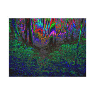 """Walk with Me in the Wilder Woods"" Canvas Print"