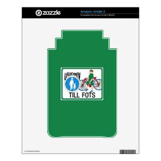 Walk with Your Bike, Traffic Sign, Sweden Kindle 3 Skin