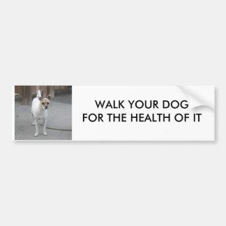 WALK YOUR DOG BUMPER STICKER CAR BUMPER STICKER