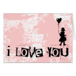 walk your heart : i love you : greeting card