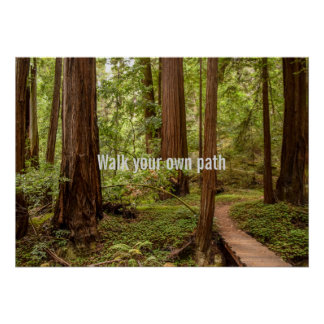 Walk your own path poster